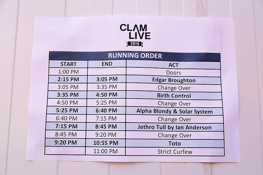 Running-Order Clam-Rock 2019