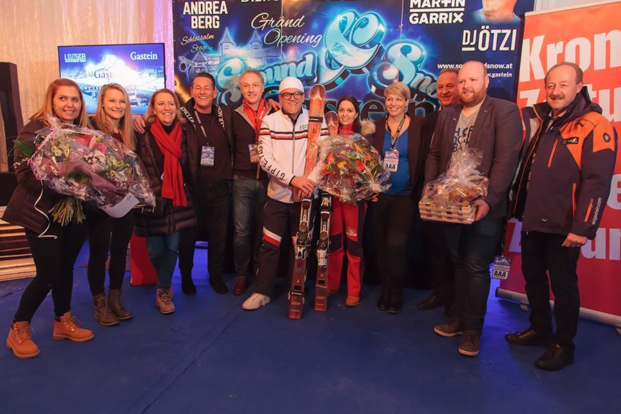 Sound & Snow 2019 - Organisation/Marketing/Sponsorenvertreter mit DJ Ötzi, Sonja Kien und Klaus Leutgeb